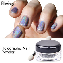Ellwings 1g/Box Glitter Rainbow Pigments Dust Nail Art Holo Unicorn Powder Hologram Neon Powder Nail Gel Polish