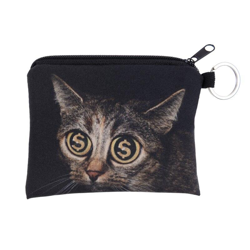 New 3D Printing Cat Gold Rush Mini Purse Zipper Bag Men And Women Womens Designer Handbags Clutch XC<br><br>Aliexpress