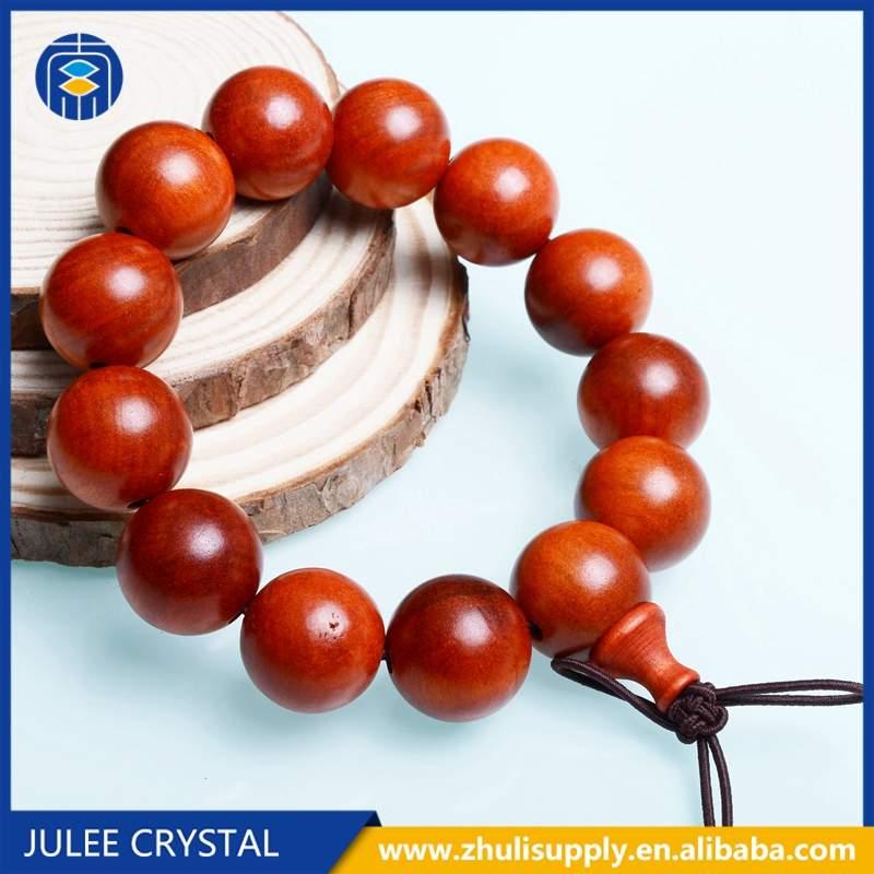 JuleeCrystal Sandalwood Prayer Bracelets Wholesale Rosewood Natural Wooded Bracelet For Women Men Wooden Bangles Jewelry