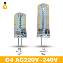 2017 new dimmable G4 led Bulb Lamp High Power SMD3014 3W 4W 6W 9W 12V 220V Replace 10W 30W halogen lamp 360 Beam Angle LED lamp