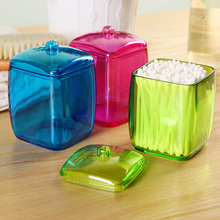 New Design Colorful Cotton Swab Box Q-tip Storage Holder Cosmetic Makeup tool Women Storage Box Jewelry Box