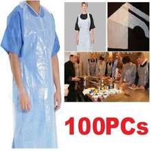 100 pcs/lot Disposable Poly Aprons Plastic Transparent Cleaner Sanitary Tattoo Apron For Tattoo Body Art & Household Daily Use(China)