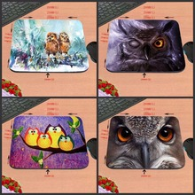 Best Quality Customized Mouse Pad Two Owls Drawing Artwork Beautiful Decor Computer Notebook Logo Printing Mouse Pad Rubber Mat