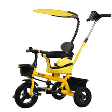 Children trolley tricycle baby bikes inflatable children pushing bikes