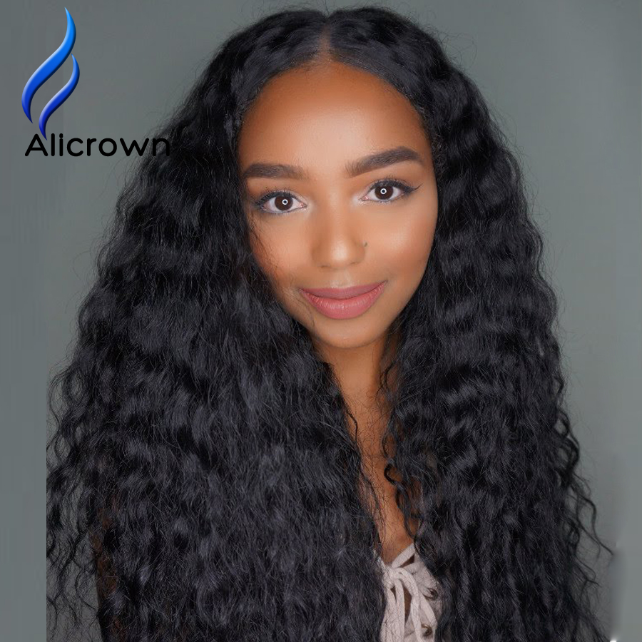 10A Brazilian Full Lace Human Hair Wigs Curly Lace Front Human Hair Wigs For Black Women Deep Wave Wig U Part Human Hair Wigs<br><br>Aliexpress