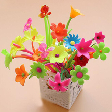 20pcs/lot Mixed Styles Flower Plant Shaped Ball Point Pen Creative Stationery Ballpoint Pen Lovely Style Free shipping(China)