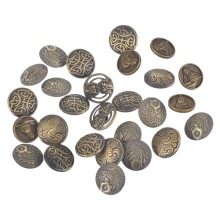 50PCs Mixed Antique Bronze Tone Round Metal Buttons Vintage Style Handmade DIY Supplies Sewing Scrapbooking Crafts Accessories
