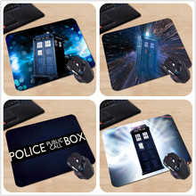 Funny Police Box Doctor Who Non-Slip Laptop PC Mice Pad Mousepad For Optical Laser Mouse Rubber Speed Game Mousepads
