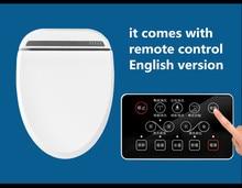 Intelligent Heated Toilet Seat Remote Control Smart Bidet Toilet Seats WC Sitz Water Closet Automatic Toilet Lid Cover Female