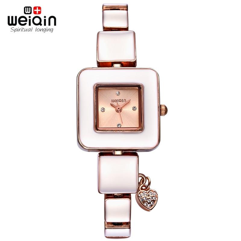 WEIQIN Rhinestone Square Dial Gold Watch New Fashion Designer Women Luxury Brand Watches Quartz Movt Ladies Dress Wrist watch<br>