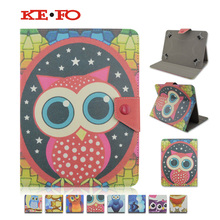Child cartoon fashion OWL Leather cover case for DEXP Ursus A170i JOY 7 inch tablet stand smart Case for universal bags+flim(China)
