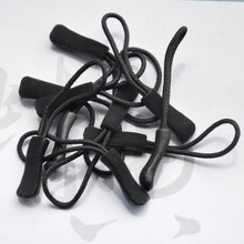2pcs Zipper Pulls Cord Rope Ends Lock Zip Clip Buckle Black For Paracord Accessories/ Backpack/Clothing