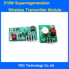 Free Shipping 20pcs/lot 433M+315M  Superregeneration Wireless RF Transmitter Module Burglar Alarm and Receiver Module