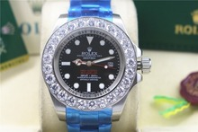 role High quality Hot style 44 mm, 116660 Big Diamond Bezel Black dial 2813 movement Automatic Mens watch(China)