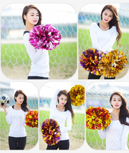 80g Cheerleaders Flower ( 10 pieces/lot) Pompoms Practical Cheerleader Cheering Pom Pom Apply to Sports Match Party Celebrations