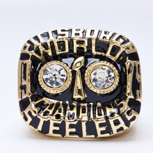 1975 American football Pittsburgh Steelers sale replica championship rings men jewelry Fast shipping STR0-278(China)