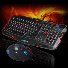 Reliable Anti skid with stand design LED Gaming Wire 2 4G font b keyboard b font