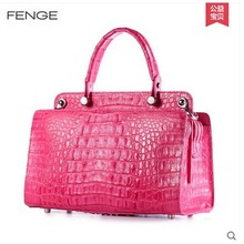 Fenge crocodile women handbags women bags fashion leisure men bag single shoulder bag handbag imported crocodile skin(China)
