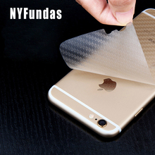 NYFundas 10PCS Back Carbon Fibre Film Mobile Phone Stickers for Apple iPhone 6 S 6S 7 8 Plus 5 5S se X 4S Pegatinas Accessories(China)