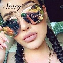 91486b530fc STORY Hot Rays Sunglasses Women Famous Brand Designer Aviator Women Sun  Glasses For Lady Rose Gold