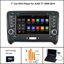 Quad Core Android 5.1 CAR Multimedia Player for AUDI TT 2006-2014 AUDIO CAR STEREO DVD 1024X600 HD SCREEN WIFI 16GB flash