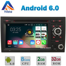 "7"" 1024*600 Android 6.0.1 Octa Core Cortex A53 2GB RAM 32GB ROM Car DVD Player Radio Stereo GPS For Audi A4 2002-2008 Seat Exeo"