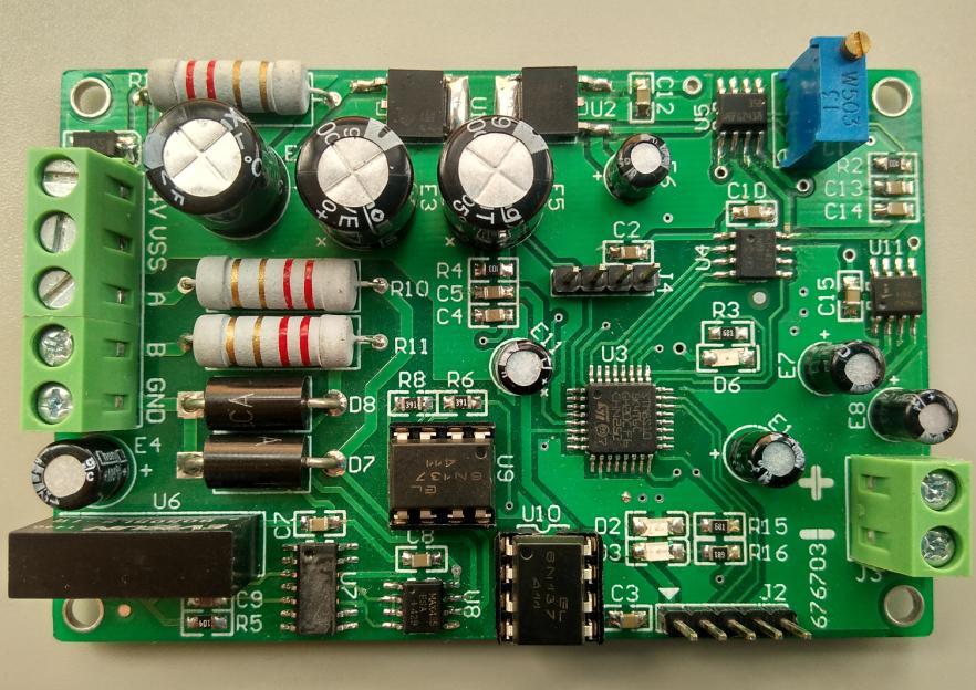 0-10V DC voltage signal output transmitter photoelectric isolation 485 turn 0-10V MODBUS RTU protocol<br>