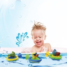 1pc Baby Bath Toys Swimming Animal Duck Crocodile Plastic Bathroom Toys for Kids Shower Water Fun Toys Educational Games Gifts(China)