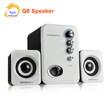 2017 upgrade best audio system Q8 HiFi Speakers desktop speaker multimedia mini computer speaker 2.1 subwoofer USB power(China)