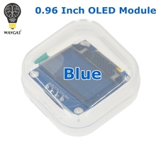 "WAVGAT Blue color 128X64 OLED LCD LED Display Module For Arduino 0.96"" I2C IIC SPI Serial new original(China)"
