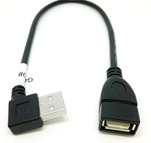ZB Newest 10cm USB 2.0 A Male to Female 90 degree Angled usb extension cord cable USB2.0 male to female right cable