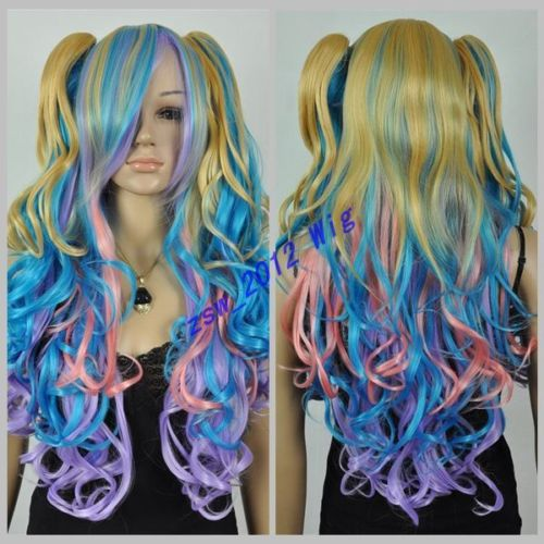 HOT sell Free Shipping &gt;&gt;&gt;New Wig Double Ponytail Wig Colored Wigs<br><br>Aliexpress