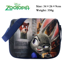Cartoon Zootopia Satchels Shoulderbag Students Bookbag schoolbag Computer bag Messenger bags Travel Bag A Style(China)