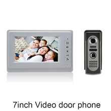 (1 set) Home use 1 to 1 Video door phone smart home system Video intercom waterproof camera 7 inch color monitor free shipping(China)