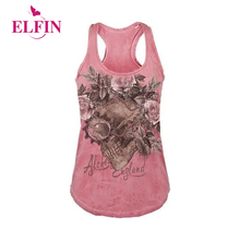 Buy Women Fashion 2018 Punk Rock T Shirt Sleeveless Skull Printed T-Shirt Letter Print Tops WS7694R for $7.80 in AliExpress store