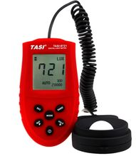TASI TA8121 digital light meter, peak hold, data storage, integrated luminance meter.