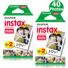 Genuine 40 Sheets White Fuji Instax Film Fujifilm Instax Mini 8 Film For Mini 8 9 50s 7s 90 25 Share SP-1 SP-2 Instant Cameras(Hong Kong)