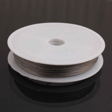 Wow!! 0.45MM Thickness Silver 2 Rolls 100m Stainless Steel Tiger Tail Wire for Chunky Necklace Jewelry Findings(China)