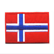 National Flag Norway Flag Patch Armband Embroidered Fabric Standard Customized Eu Member 3d Embroidered Fabric Label Design Badg