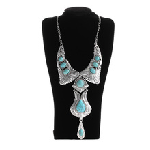 1 Pcs Fashion Women Bohemia  Pendant Statement Bib Chunky Choker Necklace Wedding Jewelry
