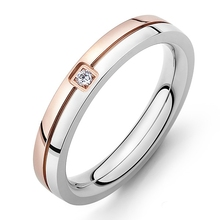 LASPERAL 1PC Fashion Stainless Steel Finger Ring Carved Line Crystal Wedding Rings Fit Women Bright Engagement Rings Jewelry