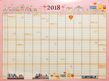 2018 Calendars Efforts Plan Book Cute Cartoon Paper Gift Ideas Plan Book Kawaii Desk Student Office Supplies 037