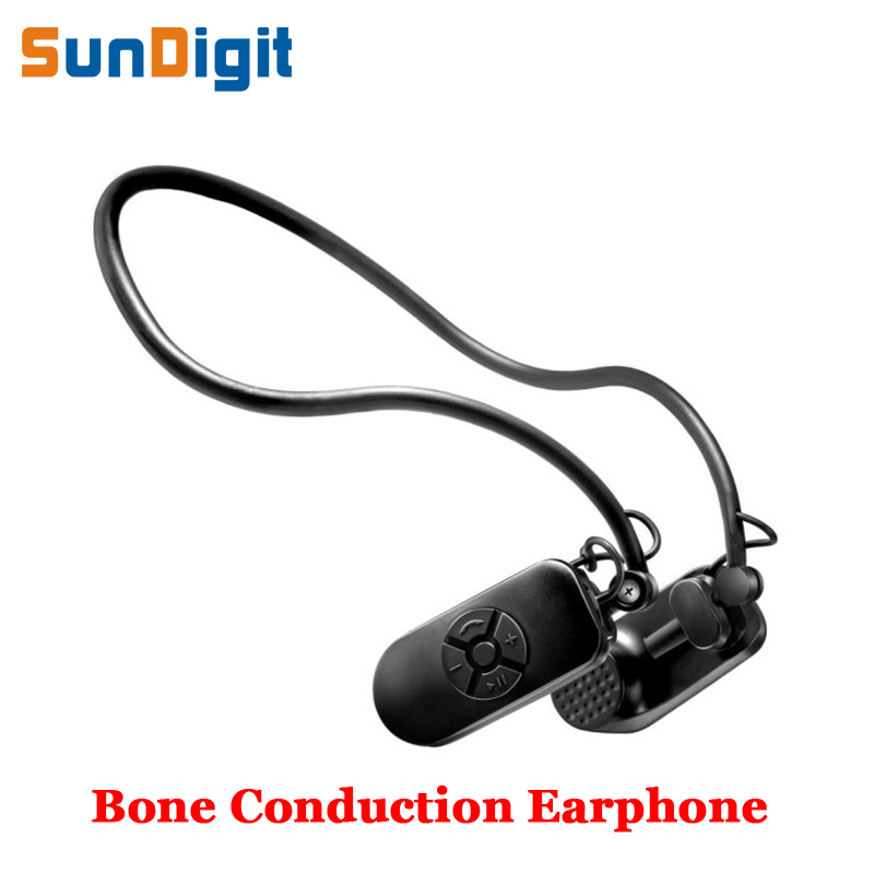 Fashion Bone Conduction Bluetooth Earphone Waterproof Sport Wireless Earphones Adjustable Angle Headphones Protect Your Eardrum<br>