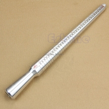 Ring Sizer Guage Mandrel Finger Sizing Stick Measure Standard Tool Silver Metal-W128