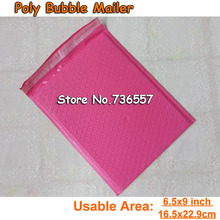 [PB#69+]- Pink 6.5X9inch / 165X229MM Usable space Poly bubble Mailer envelopes padded Mailing Bag Self Sealing [50pcs]