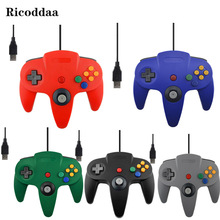USB Wired Controller For Nintendo N64 Wired Gamepad Joypad Joystick For Gamecube For N64 64 PC Black For Mac Game Accessories(China)