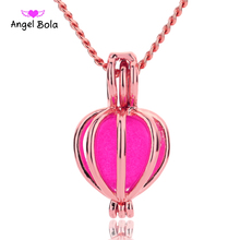 Angel Bola Jewelry Yoga Aromatherapy Essential Oils Surgical Perfume Diffuser Locket Necklace Drop Shipping L172