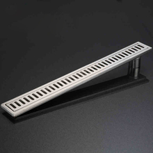 304 Stainless Steel Brushed Surface Linear Shower Bathroom Long Floor Drain 600MM Bathroom Channel Tile Drains(China)