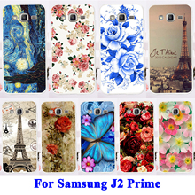 Flexible Silicon Cell Phone Shell Hood For Samsung Galaxy J2 Prime Housing Bags Rose Peony Flower Grand Prime 2016 SM-G532F