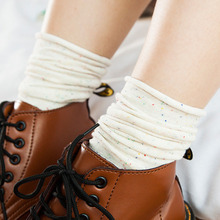 New Arrivals Trendy Plain In Tube Socks Ruffle Frilly Retro Girls Knit Korea Kawaii Warm Women British Style Cotton Ankle Socks